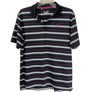 Under armour Large black and pink performance polo